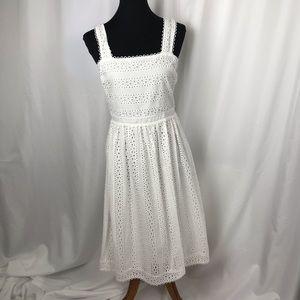 White Cotton Eyelet Summer Dress